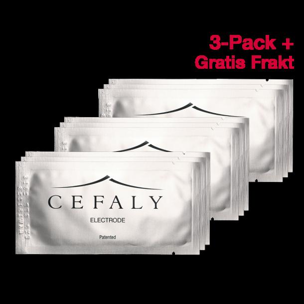 3 Pakker x 3 Elektroder til Cefaly – Gratis Frakt